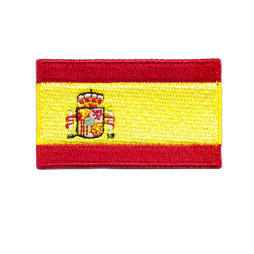 Apparel Sewing & Fabric European Cup Flags Spain Flag Patch For Jackets 1.5*2.5inches
