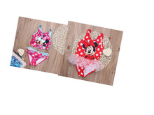Retail 2016 branded lovely mickey girls one piece swimwear kids one-pieces swimsuit beach children clothes bathsuit size 2-7T