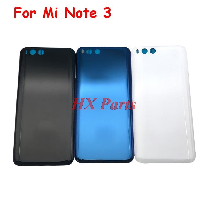 5 PCS For Xiaomi Mi Note 3 Back Cover Chassis Case Rear Battery Housing Door With