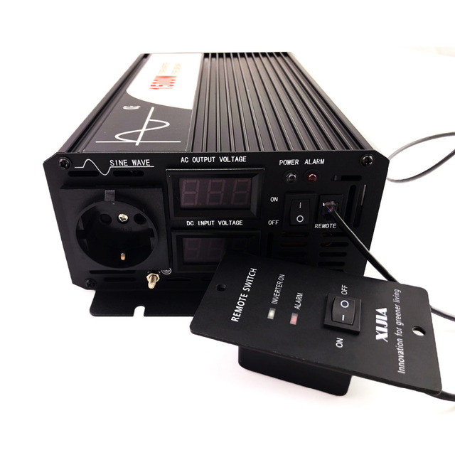 1500W pure sine wave solar power inverter DC 12V 24V 48V  to AC 110V 220V with remote control 4
