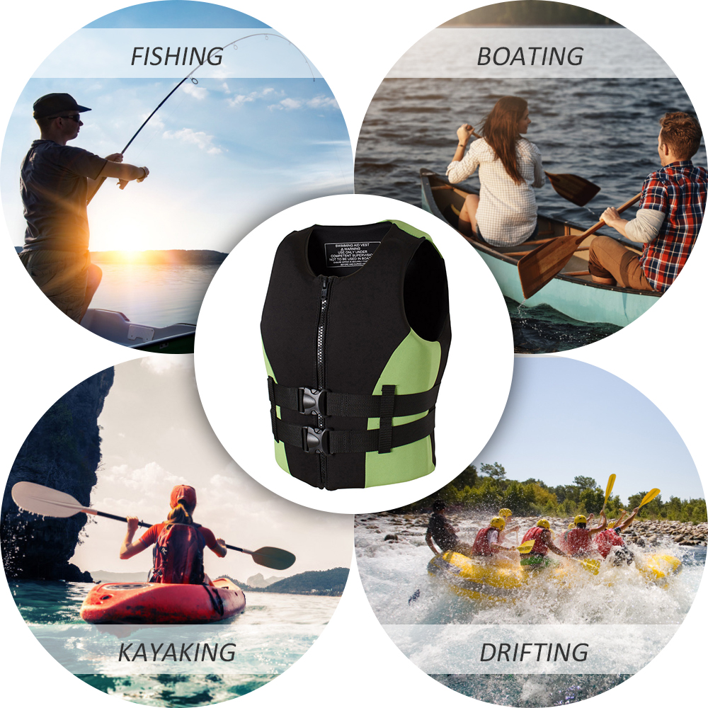 Image 3 - Neoprene Fishing Life Jacket Watersports Kayaking Boating Drifting Safety Life Vest Water Sports Safety Man Jacket XXL Size-in Fishing Vests from Sports & Entertainment