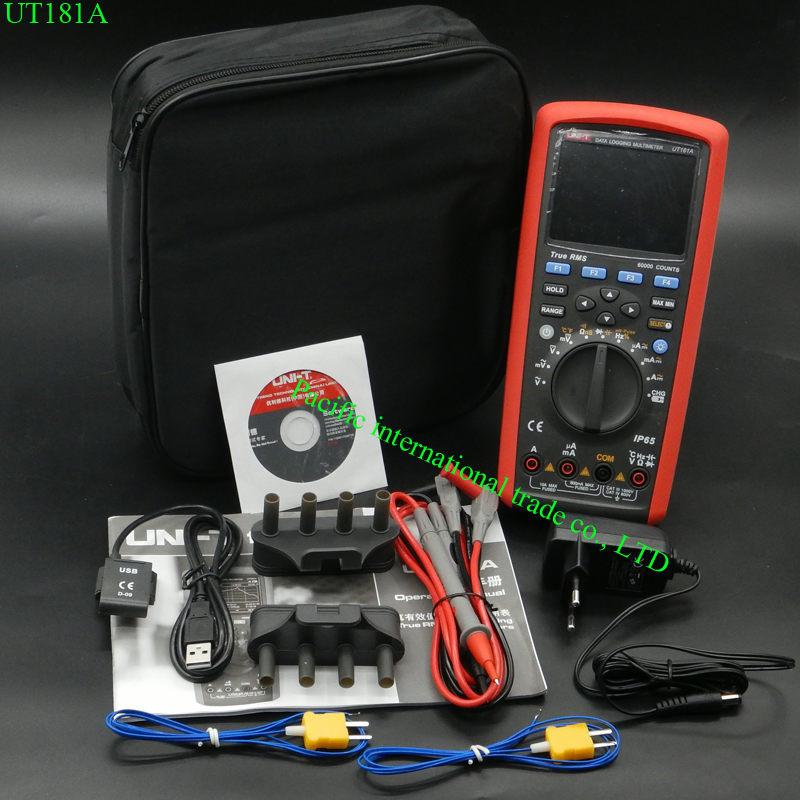 True RMS Datalogging Digital Multimeters UNI T UT181A DMM измеритель емкостной температуры с перезарядкой Li Battery EU Plug