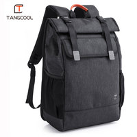 Tangcool Brand Men's Fashion 15.6 Laptop Backpack Women Waterproof Travel Luggage Bags Business Bagpacks USB Charging Port