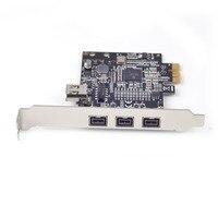 PCIE Combo 3x 1394b + 1x 1394a Firewire Ports PCI Express Controller Card, 1394 card TI Chipset XI02213, WINDOWS 8 / 7 / MAC OS