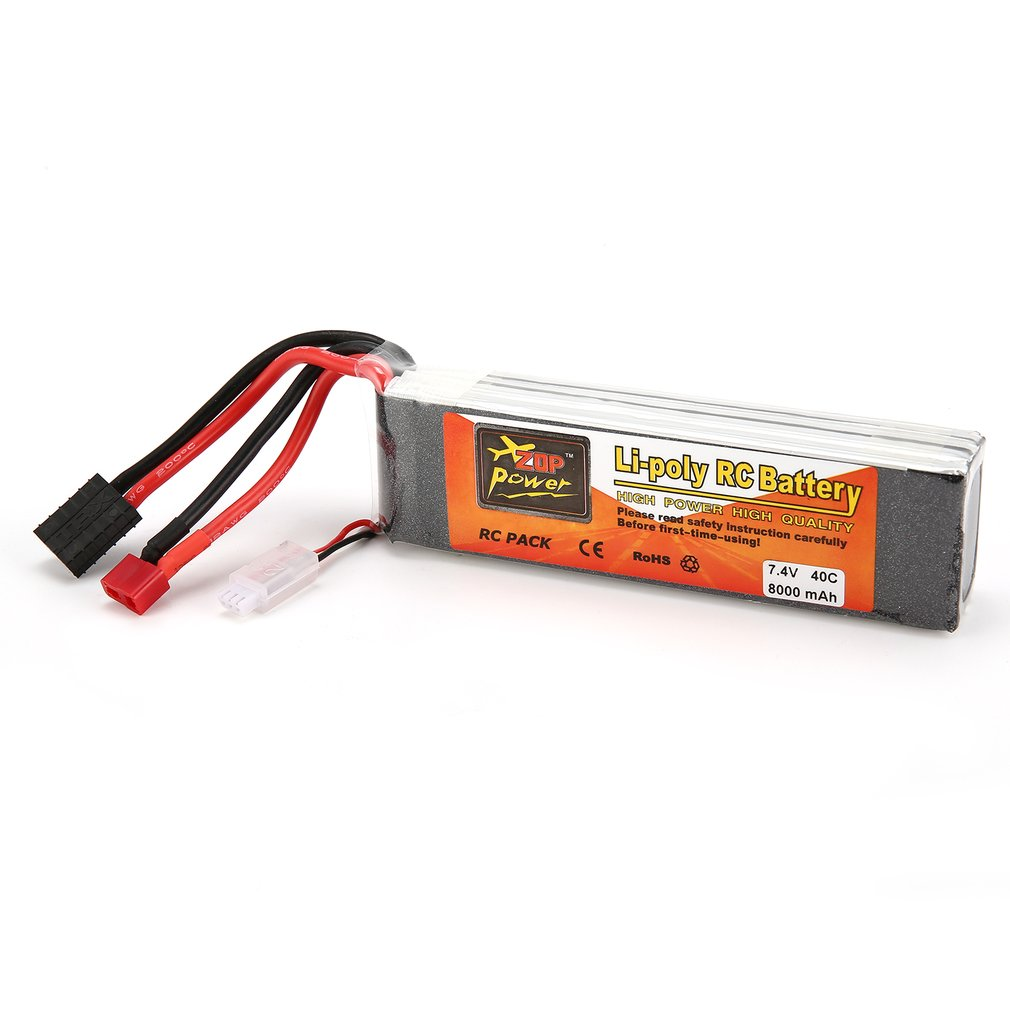 ZOP Power 7.4V <font><b>3300mAh</b></font> 5000mAh 5500mAh 7000mAh 8000mAh 6000mAh 30C 40C 45C 65C <font><b>4S</b></font> 1P <font><b>Lipo</b></font> Battery XT60 Plug for RC Drone Car image