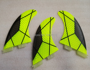 Image 3 - Colorful Surfboard Fin green orange Thruster Future FCS1 II Surf fins G5 M carbon Fiberglass Surfing Accessoire