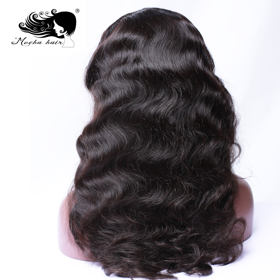 Mocha Hair  Lace Front Wigs Body Wave Brazilian Remy Hair Wigs Pre Plucked Natural Hairline With Baby Hair