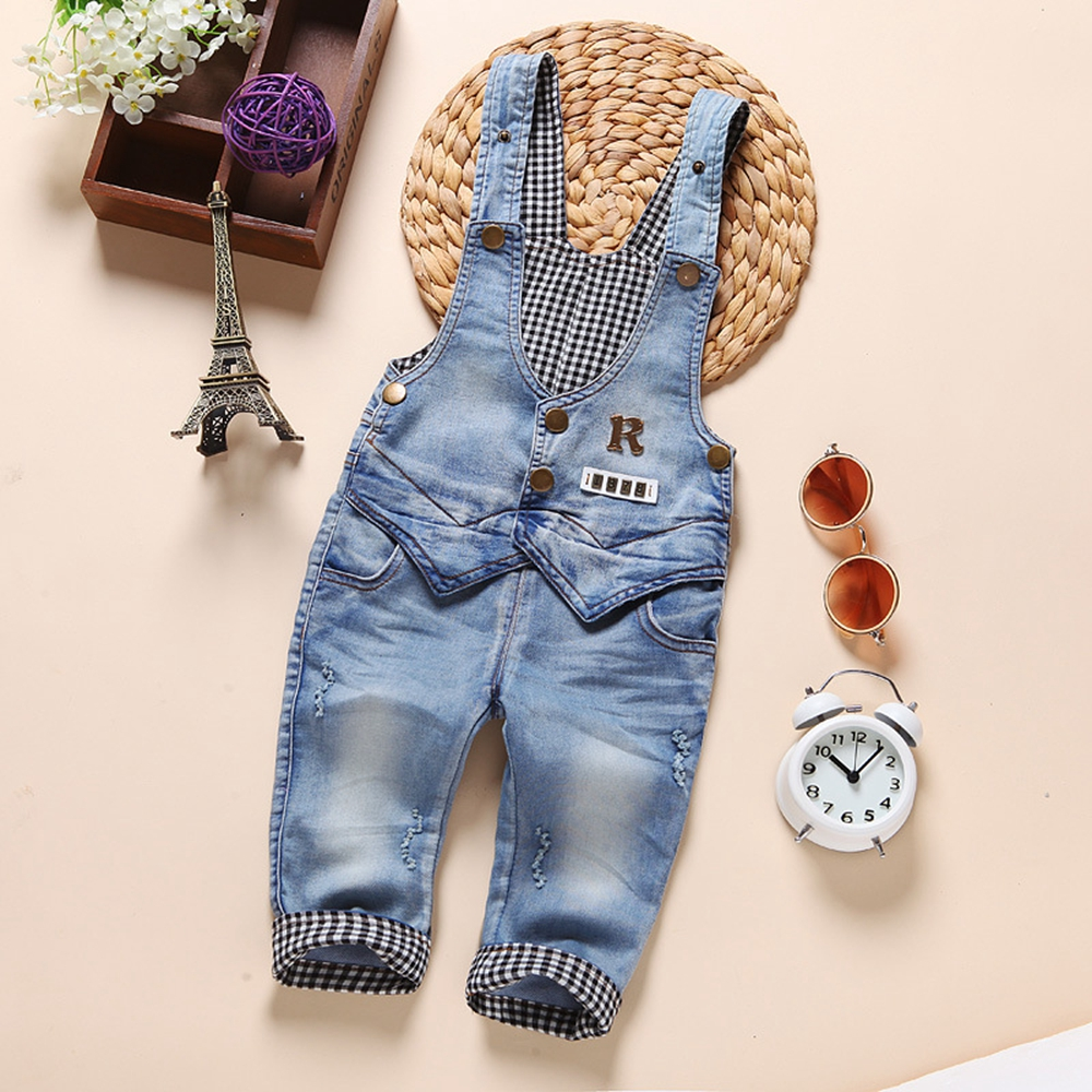 6m-4t 100% Cotton Very Soft comfortable Infant Baby Long Pants Overalls Girls Boys Jeans Jumpsuit Rompers Toddler Clothes AA0793 cotton baby rompers set newborn clothes baby clothing boys girls cartoon jumpsuits long sleeve overalls coveralls autumn winter