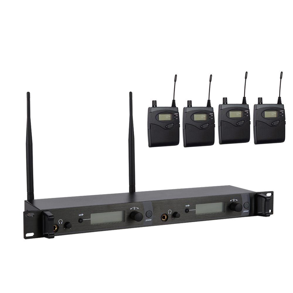 ear monitor wireless system with 4 receiver SR2050 In Stage monitor Ear Monitor System 2 Channel Monitoring in ear SR 2050 IEM 6 pack receivers wireless in ear monitor system professional dual channels transmitter sr 2050 iem