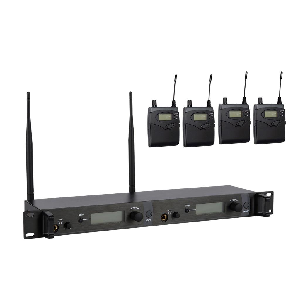 Ear Monitor Wireless System With 4 Receiver SR2050 In Stage Monitor Ear Monitor System 2 Channel Monitoring In Ear SR 2050 IEM