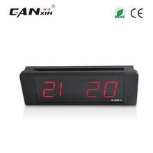 """[Ganxin] 1 """"Mini portátil Led Alarm Clock com Suportes De Montagem eletrônica digital temporizador de Contagem Regressiva relógio de parede"""