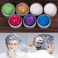 7 Colors 100ml Temporary Hair Dye Cream Hair Color Wax Mud Hair Fashion Styling Hair Coloring Products Grandma Grey Unisex