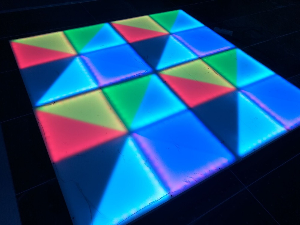 Acrylic 1x1 Meter Led Dance Floor Tiles Rgb Dance Floors For Wedding