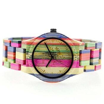 BEWELL Bamboo Wooden Quartz Wristwatch 1