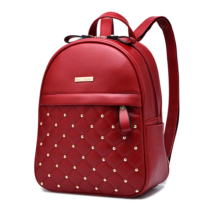 Fashion Women Backpack School Back Pack Bookbag Female Backpacks High Quality PU Leather Backpack Shoulder Bag For Girls Mochila