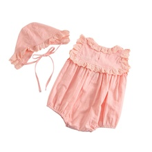 Short New Lovely Newborn Girls Boys Clothes Trousers Body Suit + Hair Accessories 2pcs Set Fall 0-24M 2018 Spring Fashion