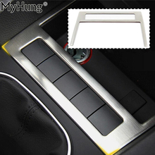 цена на For Volkswagen VW Jetta MK6 Trim Stainless Steel Car USB Decoration Cover Trim  New High Quality Auto Prats 1pc Car Styling