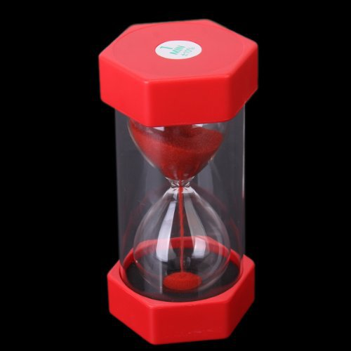 red 1 minutes sand timer security fashion hourglass 1682cm
