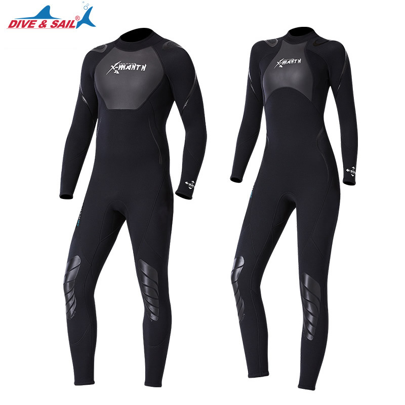 Nova 3 dois milímetros de Neoprene + Tubarão Pele Patchwork Terno Molhado para Das Mulheres Dos Homens de Mergulho Scuba Snorkeling Surf Manter Quente Anti -scratch UPF50 +