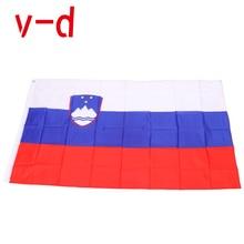 free  shipping  xvggdg   NEW   Slovenia  Flag 3ft x 5ft Hanging Slovenia Flag Polyester standard Flag Banner шифоньер fiorellino slovenia детский фиореллино словения цвет white