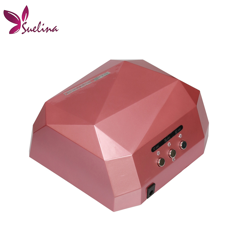 Suelina Nail Dryer&FREE SHIPPING With Retail Box !36W LED CCFL Nail Dryer Light  Dimond Shape UV Lamps Drying Gel Polish Tools shanghai kuaiqin kq 5 multifunctional shoes dryer w deodorization sterilization drying warmth