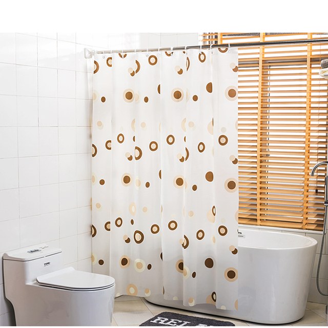 PEVA Shower Curtain Waterproof Mould Proof Home Bathroom Curtains Starfish  Circle Floral Shower Curtain With Hooks