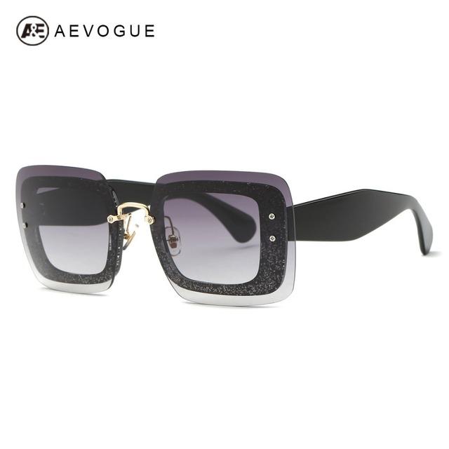 AEVOGUE Óculos De Sol Das Mulheres Mais Nova Marca de Designer de Revestimentos de Lente Sem Aro de Lente de Alta Qualidade Óculos de Sol Com Caixa UV400 AE0407