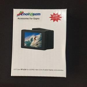 Image 5 - ملحقات Anordsem شاشة عرض LCD Bacpac لـ Go pro Hero 3 +/4 شاشة خارجية لكاميرا Gopro Hero 3 الرياضية