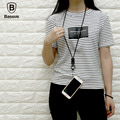 Original fashion security mobile phone lanyard High-end business Leather + zinc alloy Removable mobile phone lanyard Halter 6s