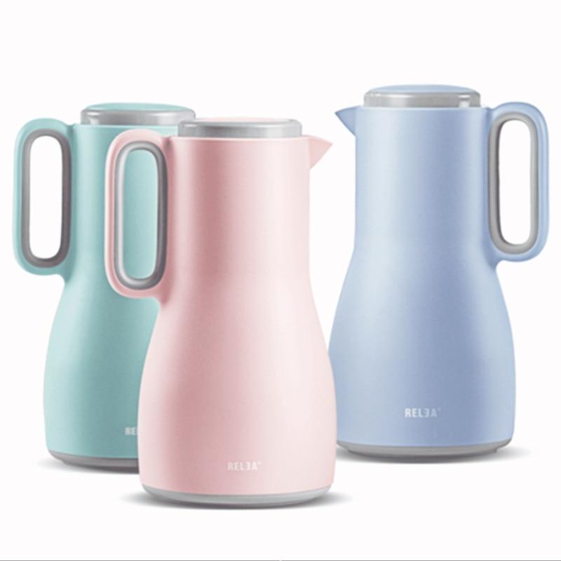 이중 벽 유리 진공 Thermoses 플라스크 냄비 컵 1500ml 대용량 커피 절연 열 온수 주전자 병-에서진공 병& 보온병부터 홈 & 가든 의 Dream  Houseware