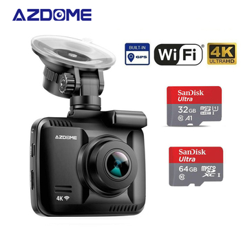 Original AZDOME GS63H 4K Dash Cam Built-In GPS WIFI Car Camera With Real Camera Dvr WDR Night Vision Dashcam 24H Parking Monitor