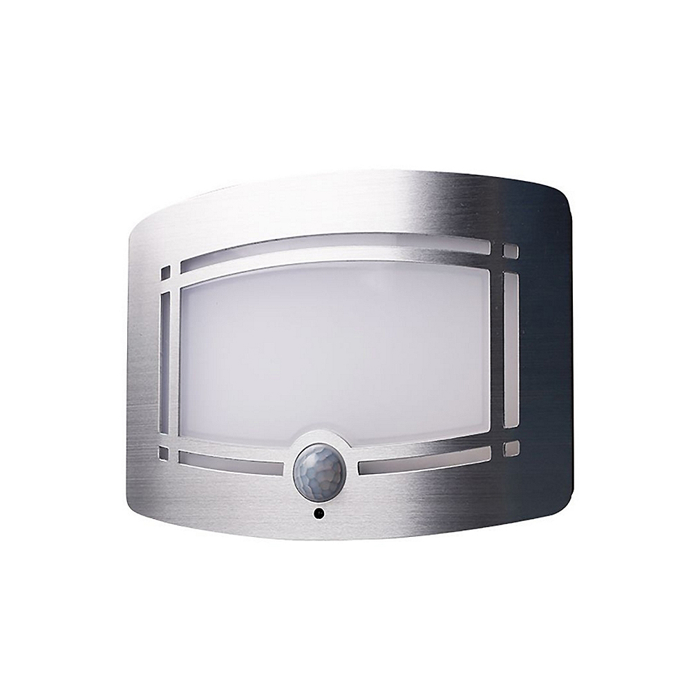 Motion sensor aluminum led night light pir wall lamp for home indoor battery powered infrared wall light