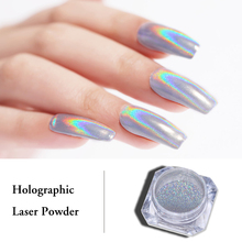 0.5g 1g Holographic Laser Powder Rainbow Nail Art Chameleon Glitter Chrome Pigment Manicure Gel Polish Dust