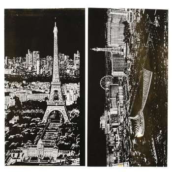 4pcs children city night scraping art painting paper/ A4 scratch urban night view Paris/ London drawing paper, free shipping youth messiah from scratch london