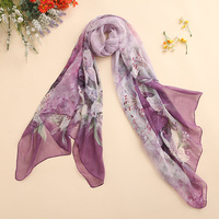 Shanghai Story 100% natural silk scarf shawl hijab wrap women female long style spring summer Beach Cover-ups