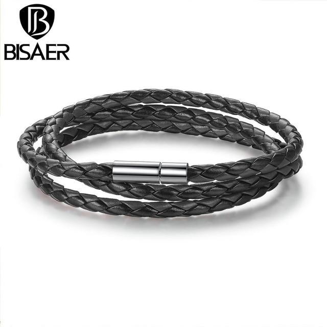 6 Colors Leather Bracelet...