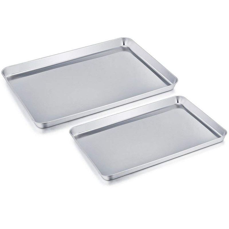 Baking Tray Rectangle Oven Baking Form Aluminium Cake Pan S/L Size Non-Stick Biscuit Cookie Macaroon Pastry Tools Bakeware Set vase