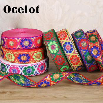 7 yards/lot Embroidery Ethnic Jacquard Webbing Woven Tape Vintage Lace Ribbon Trim Collar Tribal Boho DIY Handmade Accessories embroidery