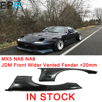 MX5 NA6 NA8 JDM Style FRP Fiber Glass Front Wider Vented Fender +20mm For Mazda Fiberglass Bumper Panel Body Kit