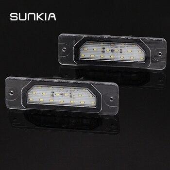 2 unids/lote 6000k blanco Canbus Error gratuito LED para matrícula de coche lámparas de luz para Infiniti FX35/45 Q45 I30/I35 M37/M56