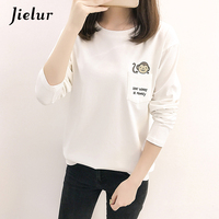 Harajuku Fashion Cute Pocket Monkey Printed T Shirts Women Autumn Loose Funny Long Sleeve Female T