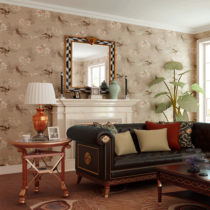 Amerikanischen Stil Rustikal Tapete Vlies Vintage Floral 4D