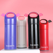 hot deal buy colleer cute angel devil wing thermos vacuum flasks 300ml & 400ml water bottle stainless steel thermoses portable drinkware cup