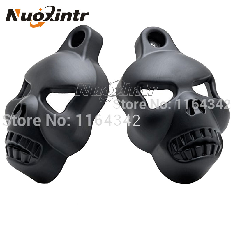 Black Motorcycle Modified Aluminum Skull Horn Carburetor Cover For Harley Davidson Softail Dyna Sportster Glide Big Twin Electra motorcycle accessories rear fender eliminator license plate bolt screw for harley dyna softail sportster black silver