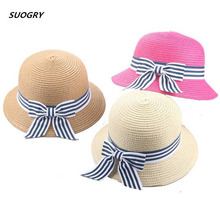SUOGRY New Summer Hat Cap Children Breathable Straw Kids Boy Girls Hats Outdoor Beach Sunhat Suit for 2-6 Years old