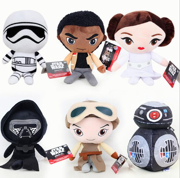20cm Star Wars Plush Toy Q Version Darth Vader Storm Trooper BB-8 R2D2 Stuffed Doll Gift for Kids