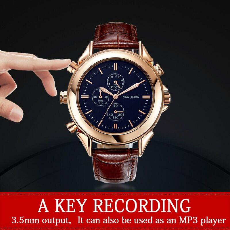 Mydash enregistreurs vocaux numériques enregistreur vocal montre-bracelet affaires Audio Rechargeable Dictaphone lecteur MP3 Mini stylo d'enregistrement - 2
