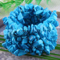 "Free Shipping Fashion Jewelry Stretch Weave Blue Turquoise Bracelet 7"" 1Pcs H132"