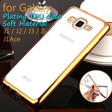 Caixa do telefone Para Samsung Galaxy Ace J5 J3 J2 J1 Chapeamento macio Casos TPU Borracha Transparente Tampa Do Telefone Móvel Para Samsung J série