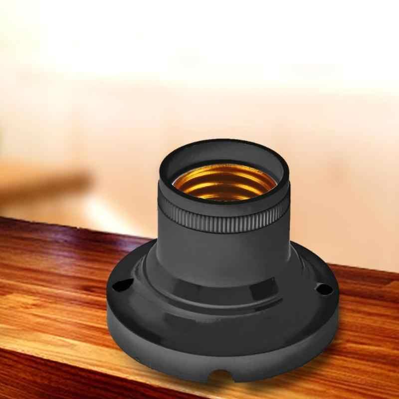 10 шт. E27 60 Вт Световой патрон, разъем для домашнего офиса светодиодный лампочка адаптер установки конвертер стенд белое огнезащитное покрытие PBT